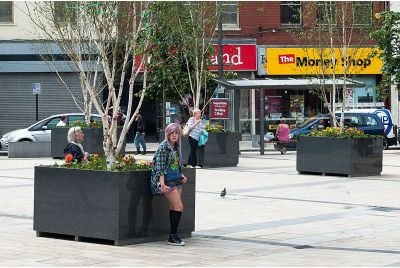 Bespoke Granite Tree Planters For Derry City Council, Northern Ireland