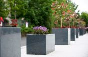 Trough And Cube Planters Made From Granite