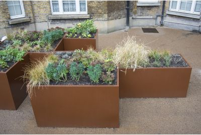 IOTA Supplied Bespoke Powder Coated Planters