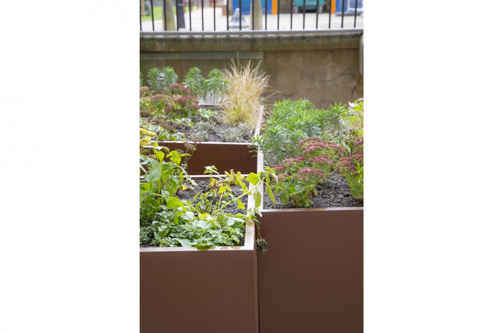 Devon Mansions Powder Coated Planters Supplied By IOTA