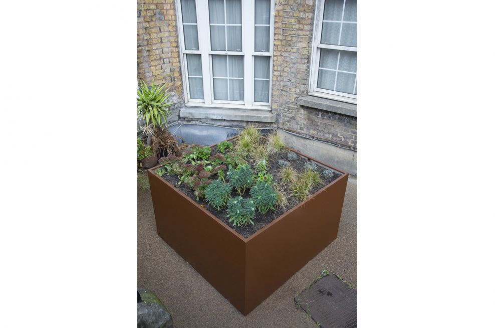 Large Bespoke Planters Made From Steel And Powder Coated