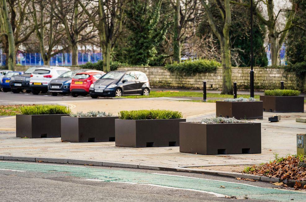 Movable planters for public spaces
