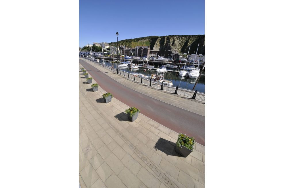 Dockside Granite Tapered Planters