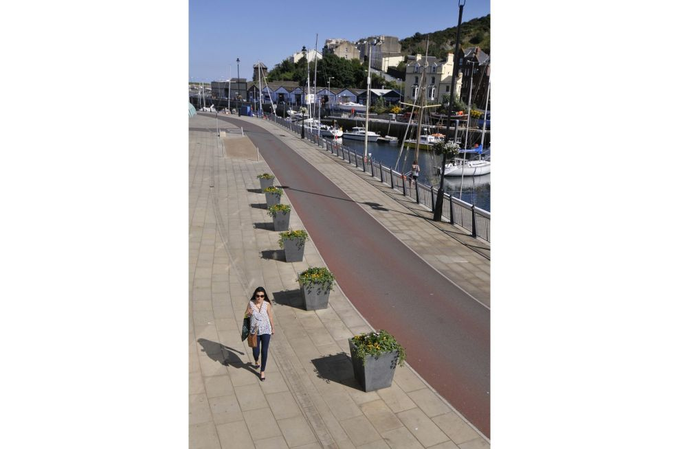 IOTA Planters Made From Granite Douglas Dockside, Isle Of Man