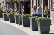 IOTA Streetscape Style Planters From The Taper 800 Range