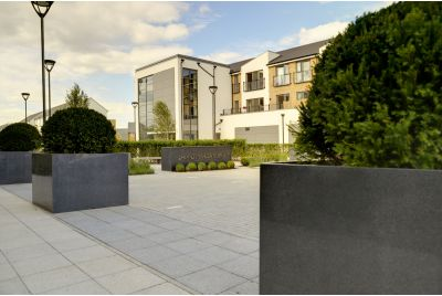 Bespoke Granite Tree Planters at Drayton Garden Village