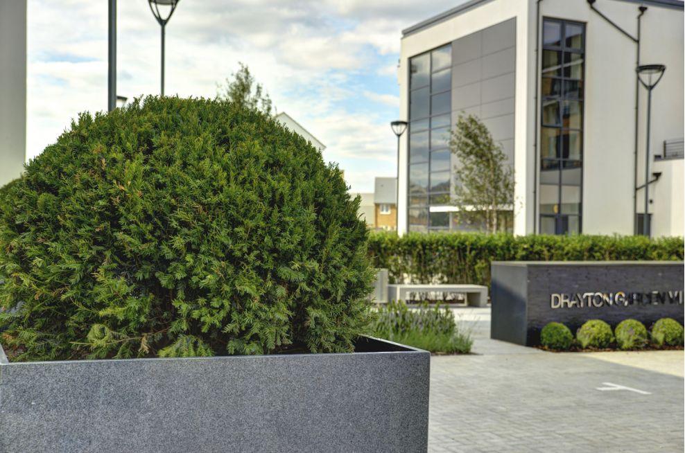Drayton Garden Village Granite Tree Planters