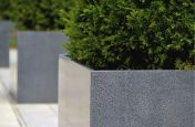 Granite Stone Planters With Near Invisible Mirted Corners