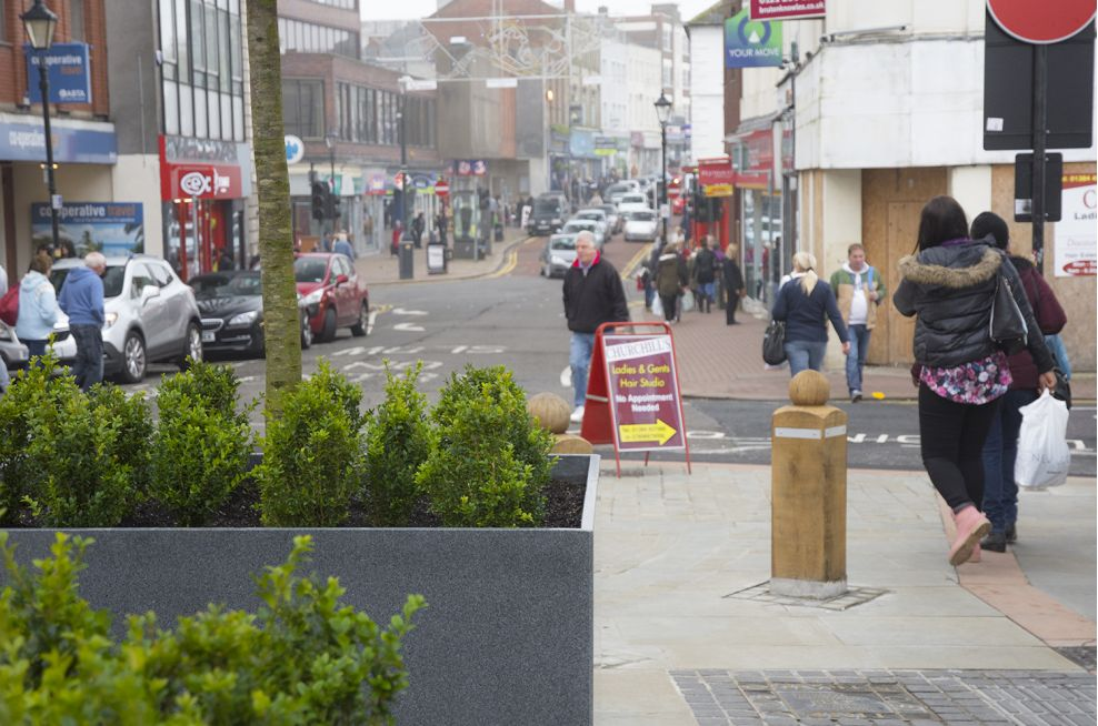 Dudley Town Centre Granite Tree Planters