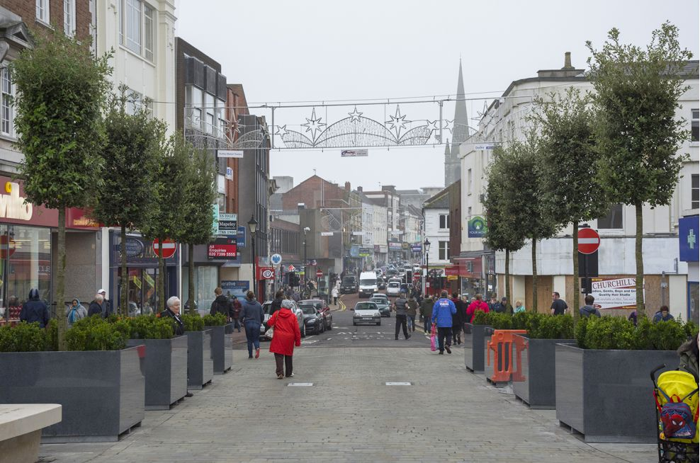 Bespoke Granite Tree Planters For Dudley Town Centre