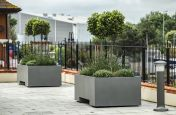 Bespoke steel planters for coastal locations