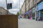 Corten Steel Planters Commissioned by  Edinburgh City Council