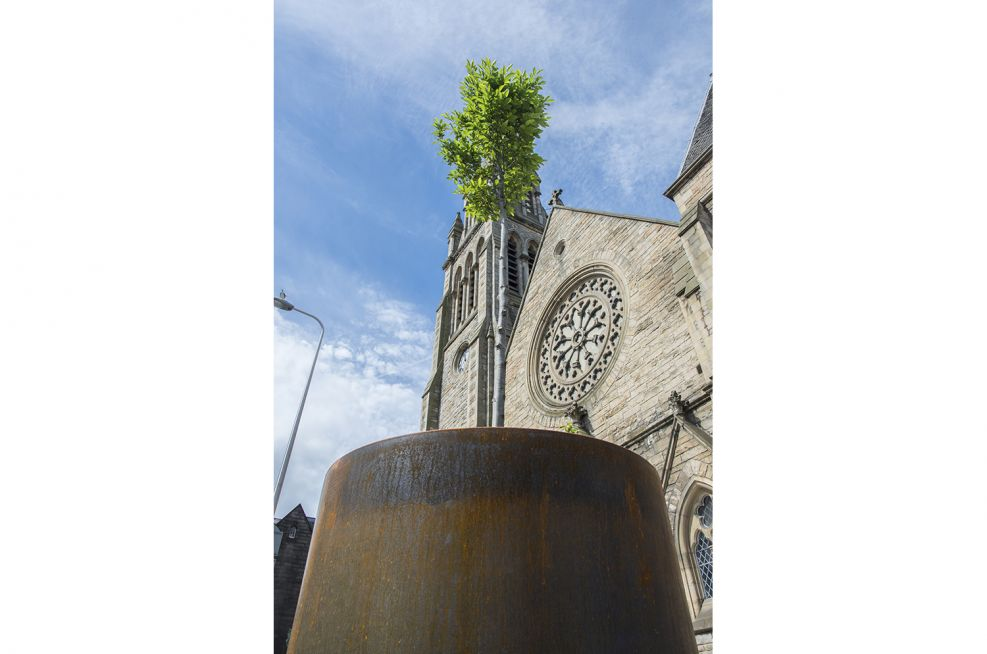 Corten Steel Planters in Edinburgh