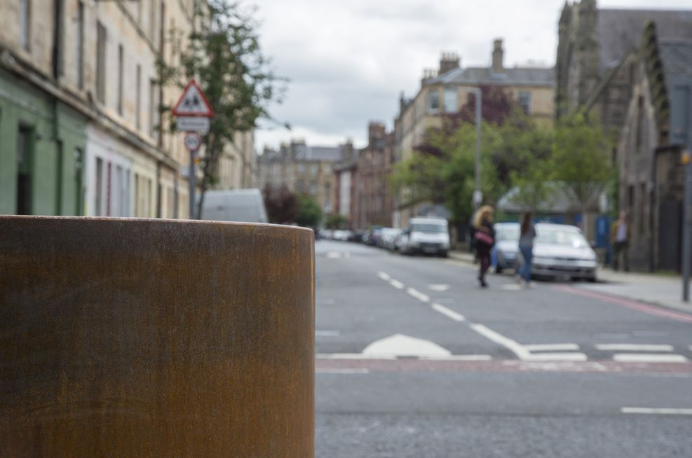 Edinburgh City Council Steel Planters