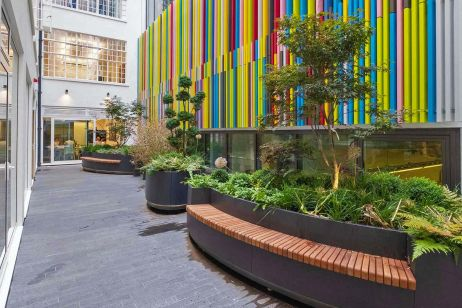 Bespoke planter and bench integrated planters