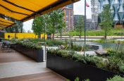 Restaurant Outside Seating Perimeter Planters