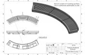 Curved bench seating CAD