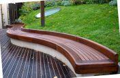 External timber bench seating