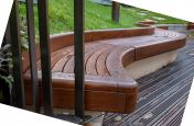 Bespoke wave curved seating