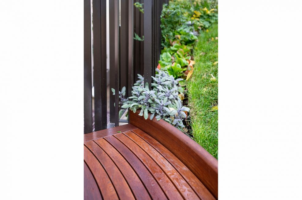 Treated garden bench seating