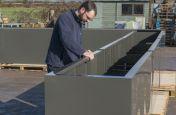 Large Steel Powder Coated Planter