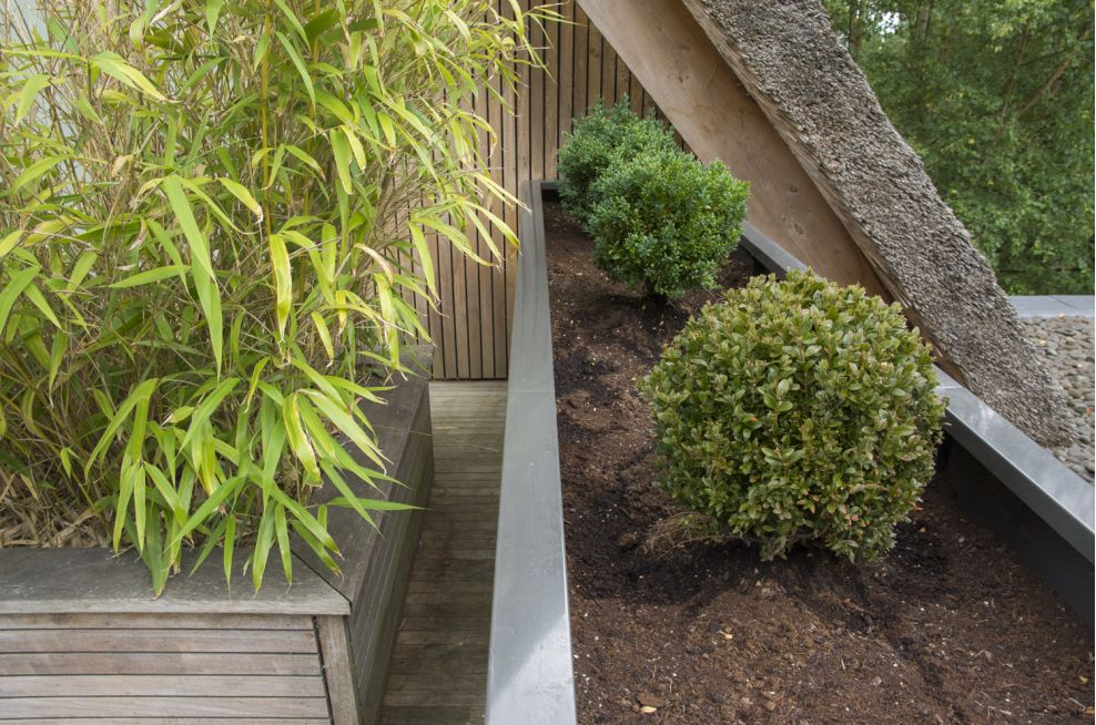 Zintec Steel Bolted Powder Coated L Shaped Planter