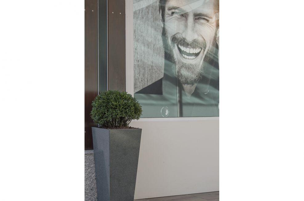 Fremlin Walk Shopping Centre Granite Tall Taper Planters