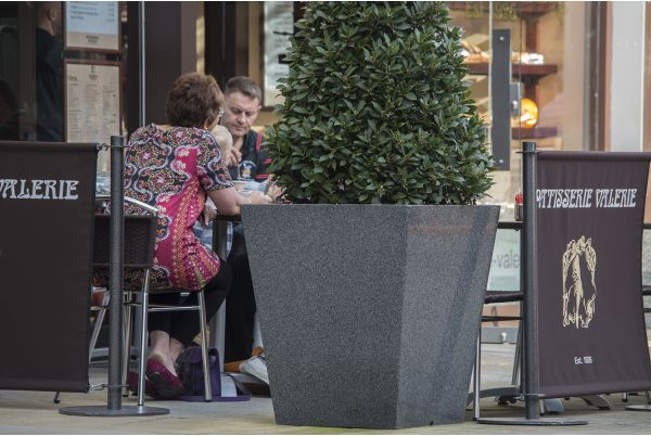 IOTA Granite Stone Street Planters At Fremlin Walk Shopping Centre