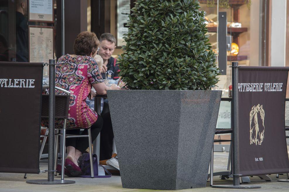 IOTA Granite Stone Street Planters At Fremlin Walk Shopping Centre