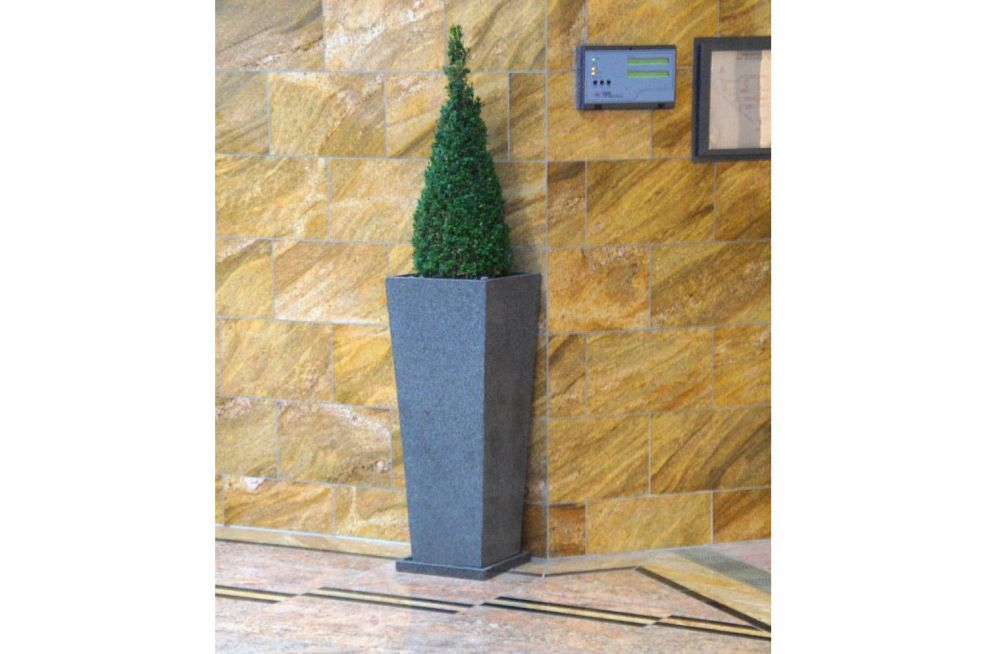 1000mm High Granite Tall Tapered Planter