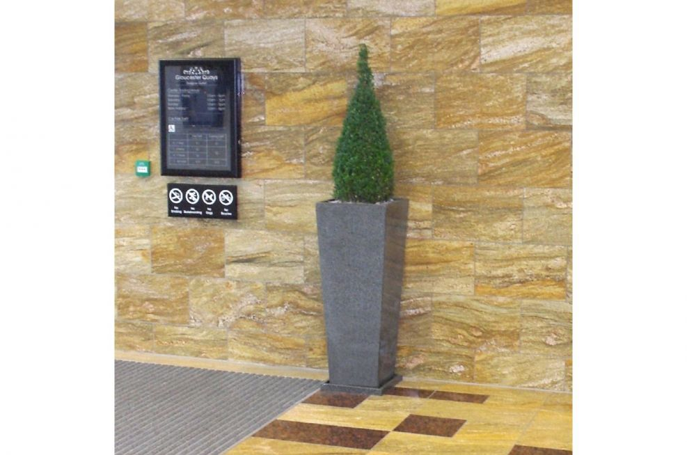 Extra Large Granite Tall Tapered Planter