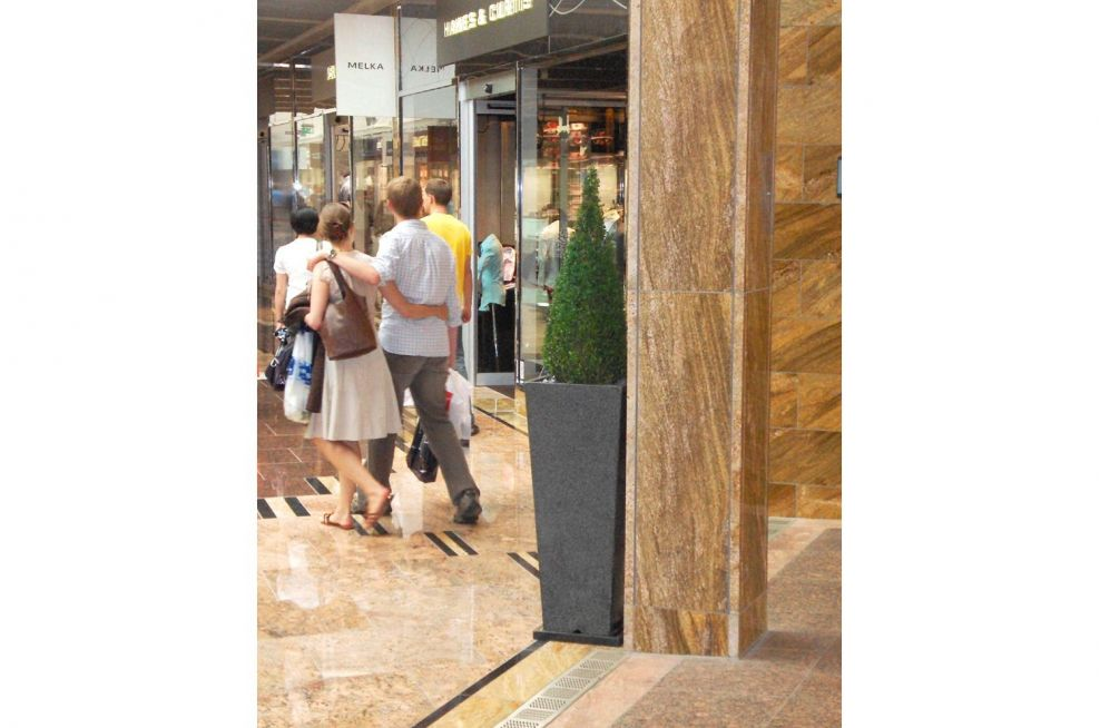 Granite Planters For A Shopping Mall Outlet