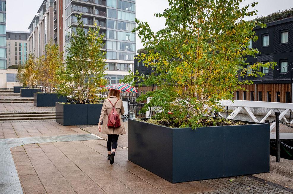 Large bespoke tree planters