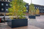 Good Hotel outside tree planters