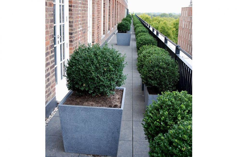 400mm Granite Cube Planters