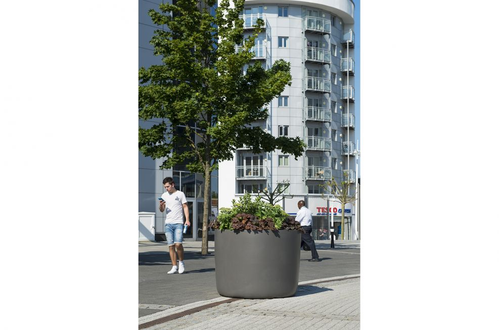 Fibre Reinforced Concrete Boulevard Planters From The KYOTO Range