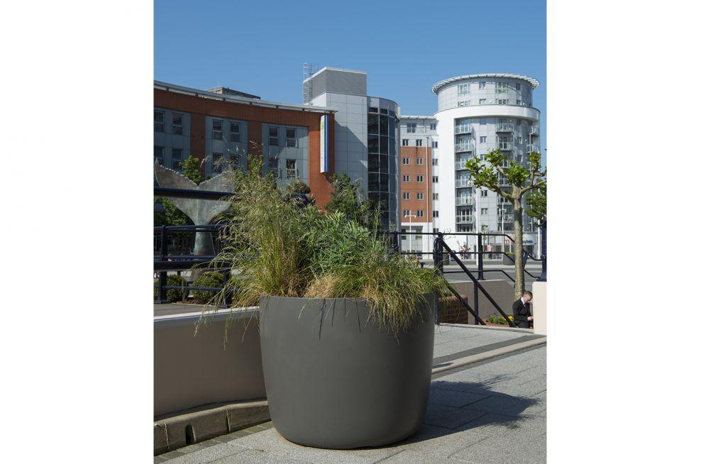 IOTA Fibre Reinforced Concrete Boulevard Planters At Gunwharf Quays