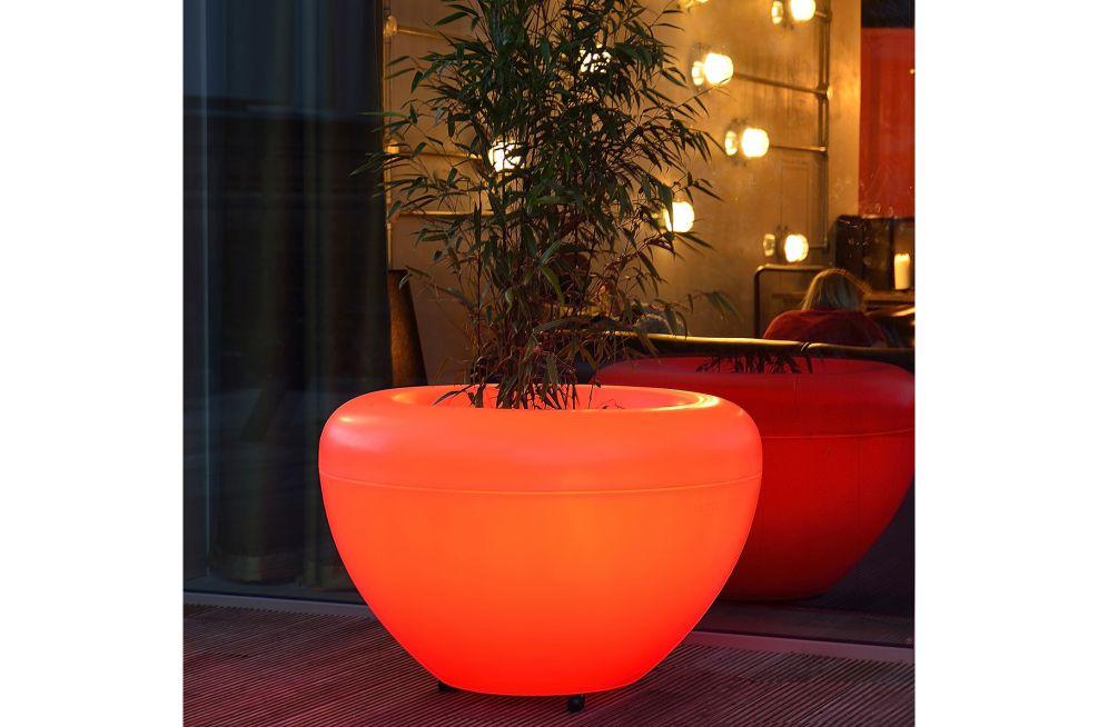 SCOOP Illuminated Planters In Orange