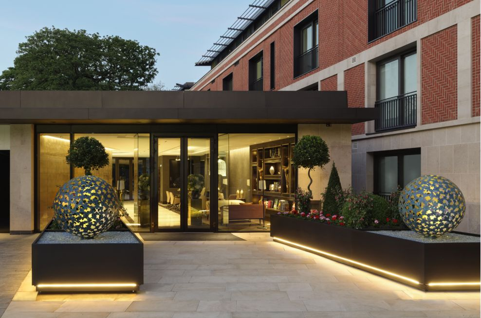 3.0mm Thick Zintec Steel Planters For Hampstead 'Super-Prime' Residential Development