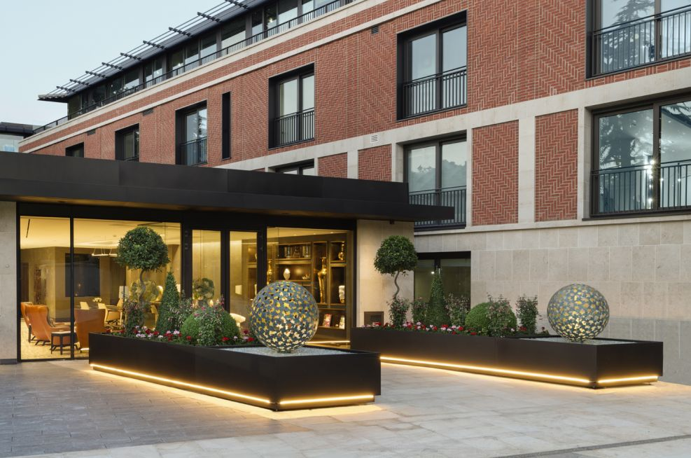 Durable and Long Lasting Steel Planters Hampstead 'Super-Prime' Residential Development