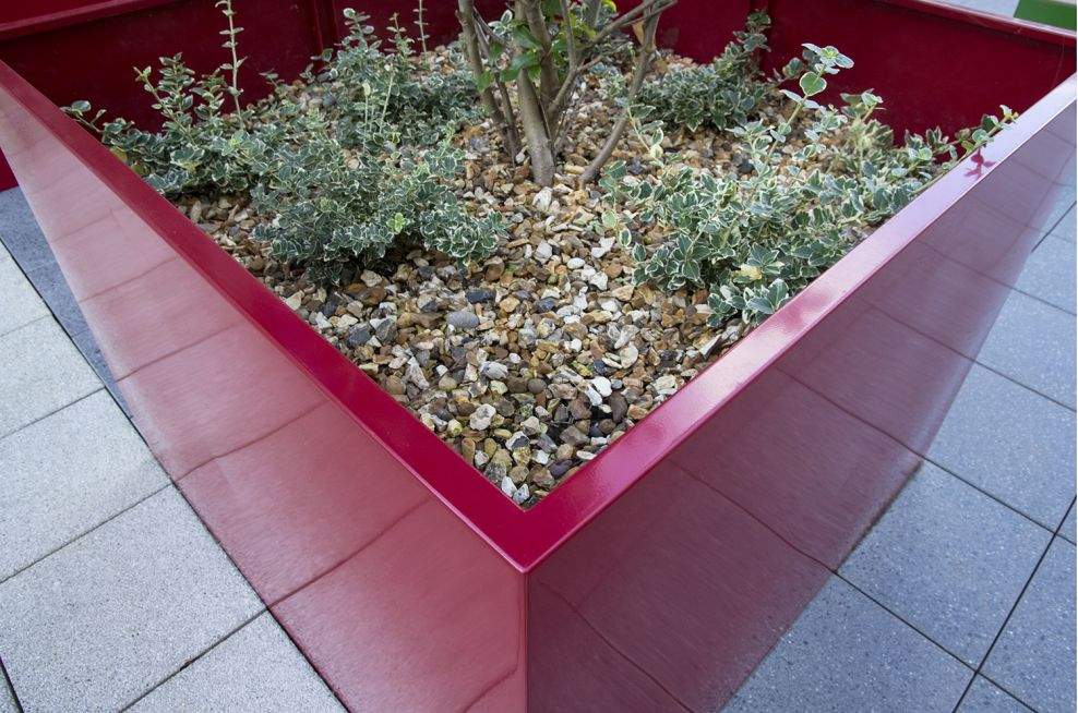 Bespoke Tree Planters For At The Hampton By Hilton