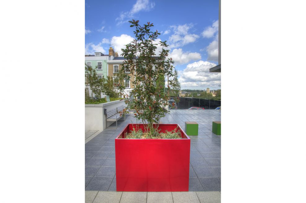 Steel Tree Planters Commissioned At The Hampton By Hilton