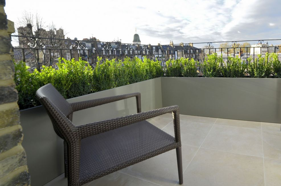 Garden Terrace Powder Coated Planters