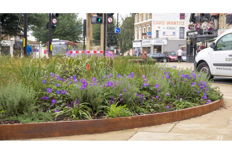 Corten Steel Public Realm Planting Surrounds or Perimeters