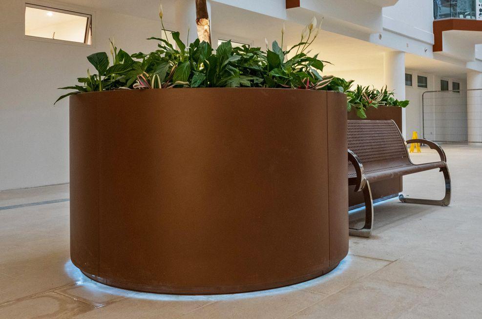 Bespoke shaped public planters