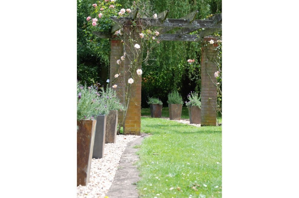 Lavender Filled Tall Taper Planters
