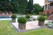 Residential Buildings With Large External Square Planters