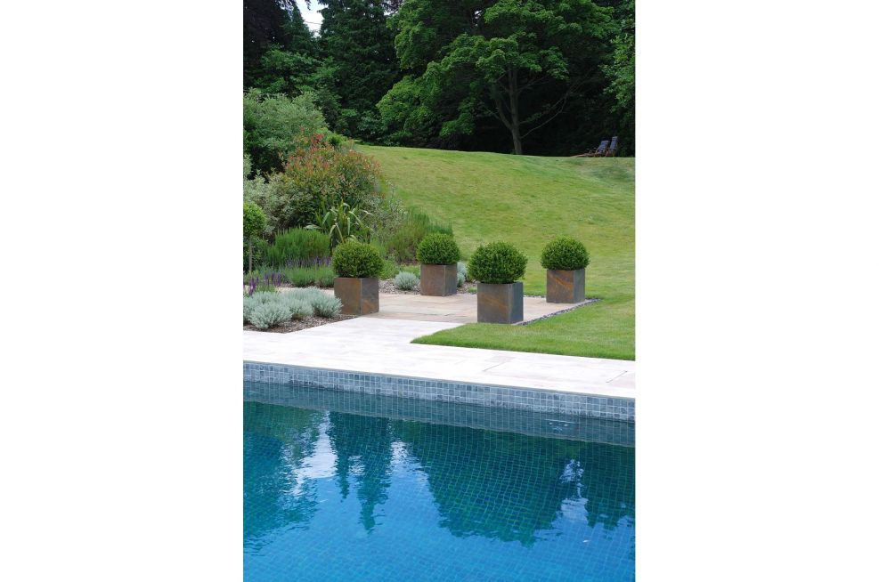 Slate Planters From IOTA for Redidential New Build