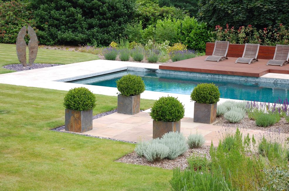 Tall Square Planters Slate Planters Supplied By IOTA