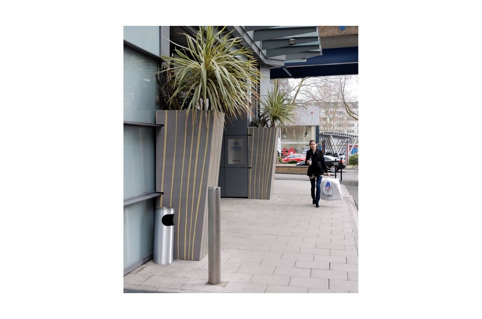Main Entrance Planters Made From Galvanised Sheet Supplied By IOTA